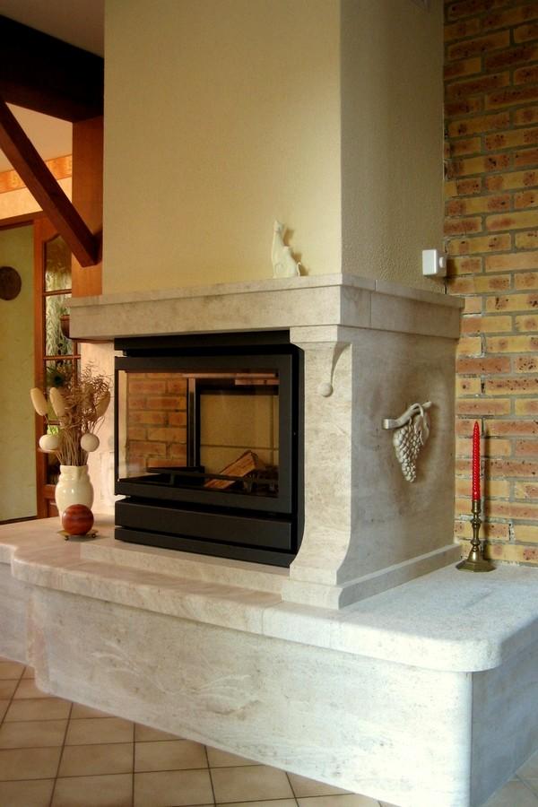 chemin e raisin en pierre de beauval bourgogne pour foyer d 39 angle. Black Bedroom Furniture Sets. Home Design Ideas