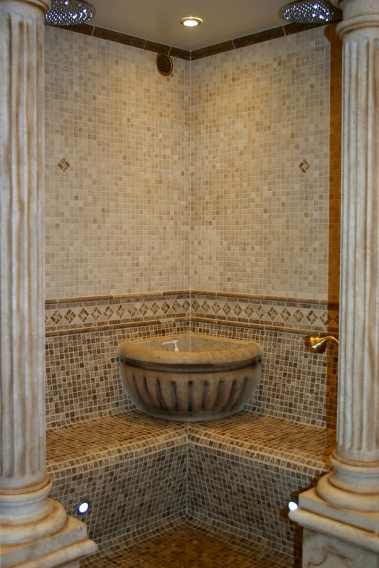 salle de bain en pierre de bourgogne avec douche lavabo sculpt coiffeuse. Black Bedroom Furniture Sets. Home Design Ideas