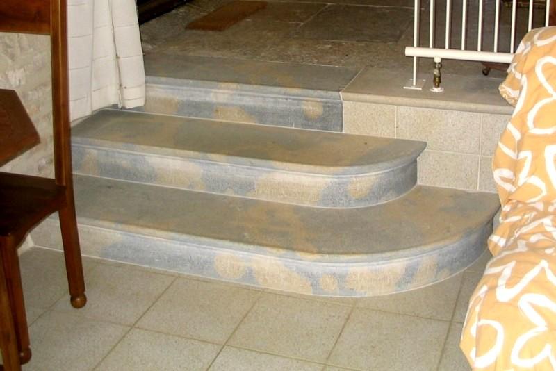 Escalier Corton beige-bleu intérieur