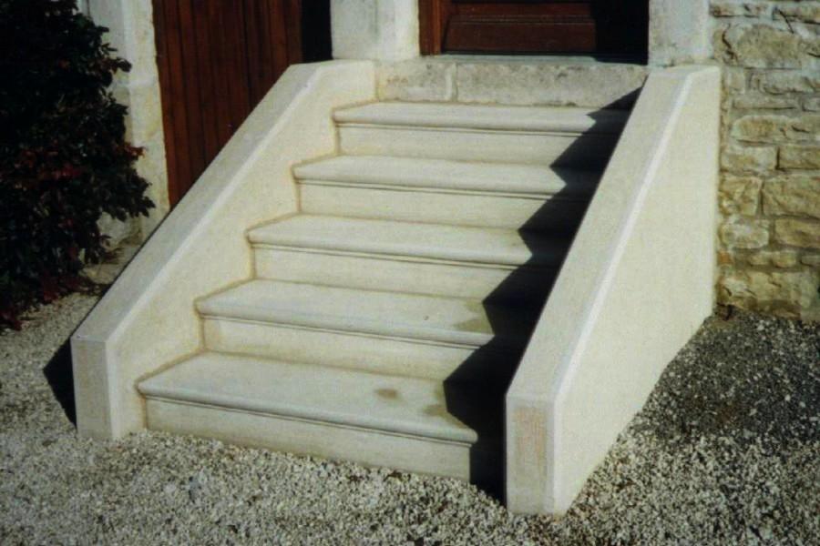Escalier double limon droit