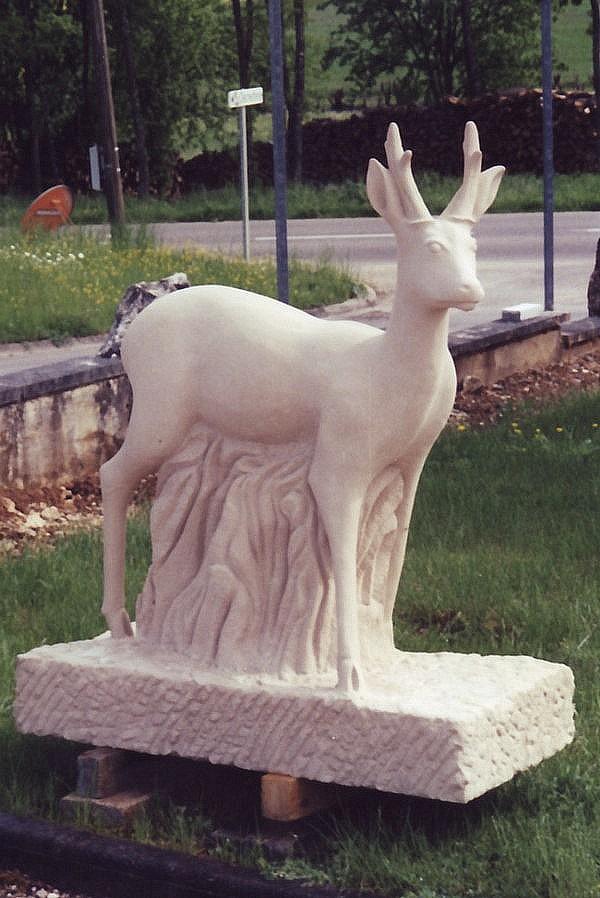 Sculpture Chevreuil
