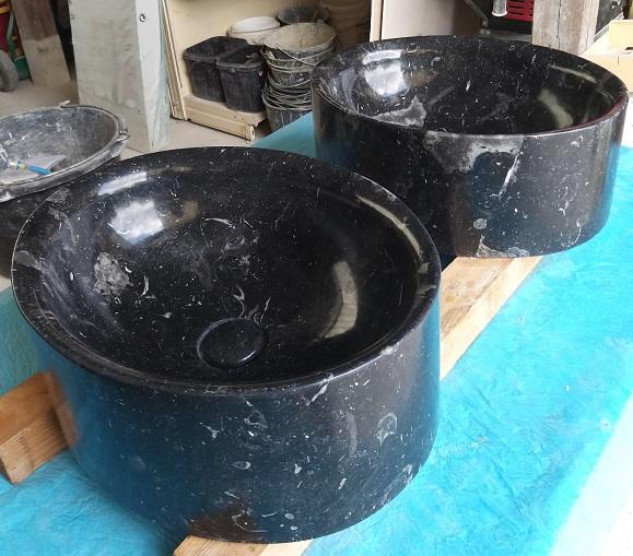 Vasques marbre noir